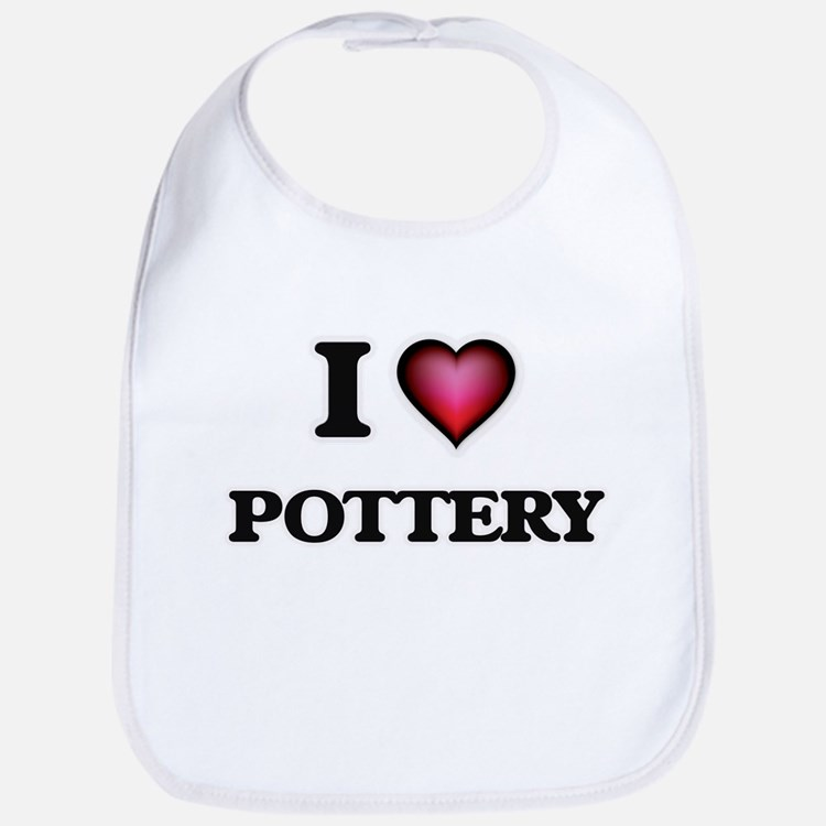 I Love Pottery Bib