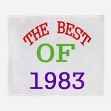 The Best Of 1983 Throw Blanket