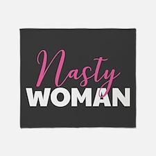 Clinton - Nasty Woman Throw Blanket