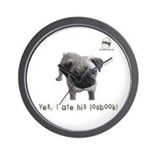 Yes, I ate his logbook! PUG Wall Clock