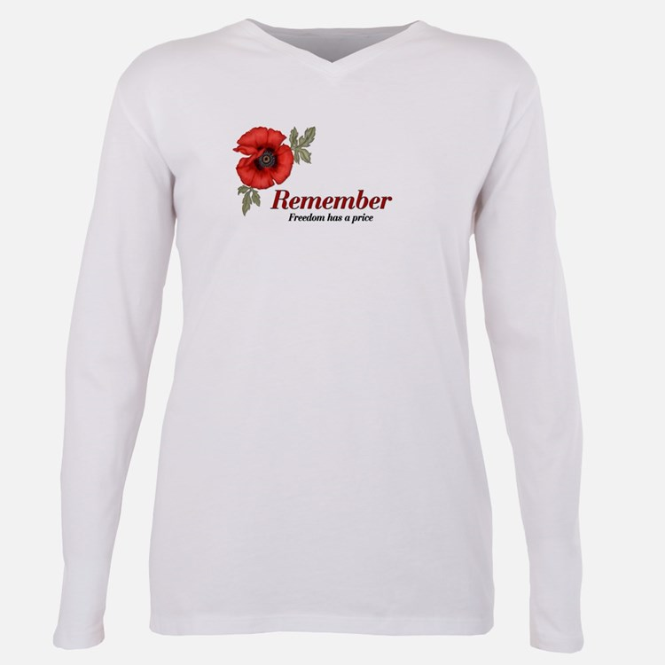 Cute Remembrance day Plus Size Long Sleeve Tee