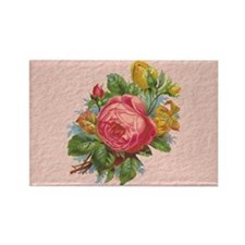 Rose Bouquet Rectangle Magnet