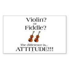 Violin? or Fiddle? #1 CASE Rectangle Decal