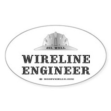 Wireline Engineer Oval Bumper Stickers