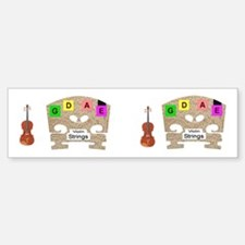 Violin Fiddle Strings Cut for Two Case Stickers!