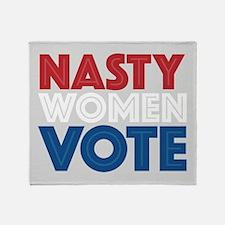 Nasty Women Vote Throw Blanket