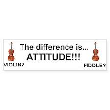 Violin Fiddle Attitude! Bumper Bumper Sticker