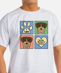 Unique German wirehaired pointer rescue T-Shirt