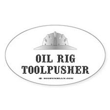 Toolpusher Oval Bumper Stickers