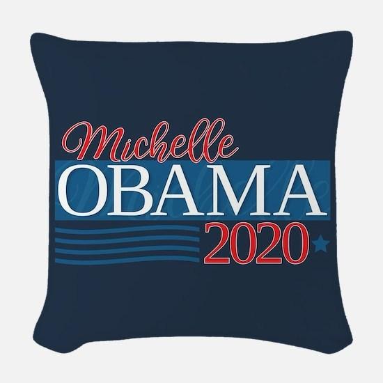 Michelle Obama 2020 Woven Throw Pillow