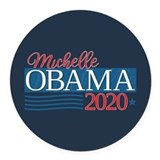 Michelle obama 2020 Round Car Magnets