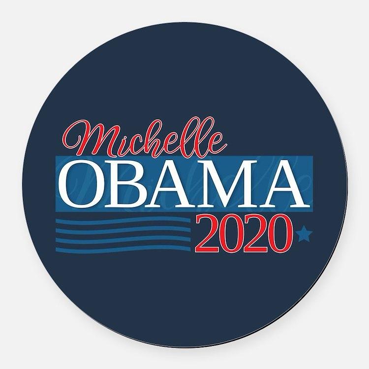 Michelle Obama 2020 Round Car Magnet