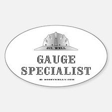 Gauge Specialist Oval Decal