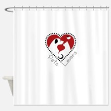 pets lovers Shower Curtain