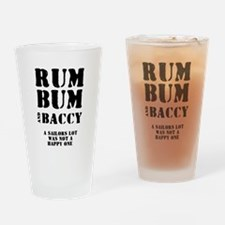 RUM - BUM - BACCY. A SAILOR'S Drinking Glass