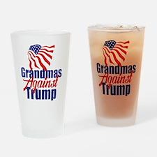 Grandmas Against Trump Drinking Glass