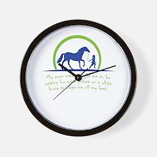 i love horse Wall Clock
