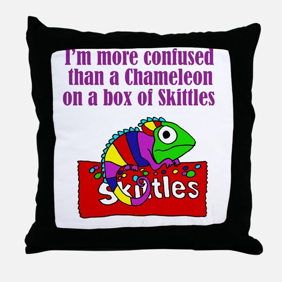 Cute Skittles Throw Pillow