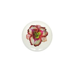 Red Ruffled Daylily Mini Button (100 pack)