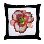 Red Ruffled Daylily Throw Pillow
