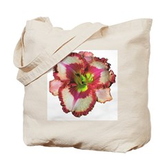 Red Ruffled Daylily Tote Bag