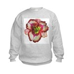 Red Ruffled Daylily Kids Sweatshirt
