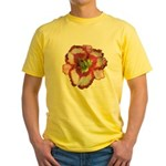 Red Ruffled Daylily Yellow T-Shirt