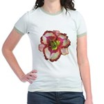 Red Ruffled Daylily Jr. Ringer T-Shirt