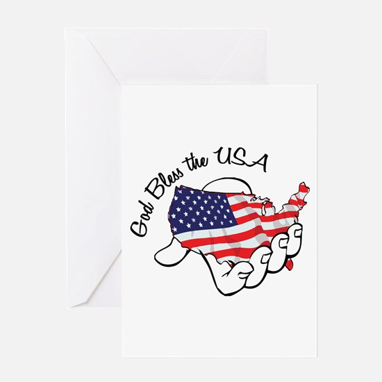 God Bless the USA Greeting Cards