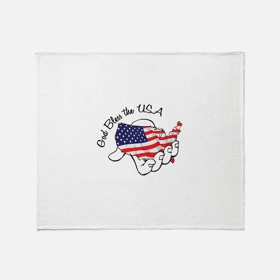 God Bless the USA Throw Blanket