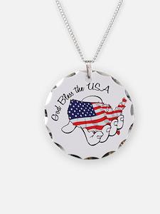 God Bless The Usa Necklace