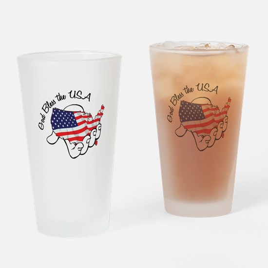 God Bless the USA Drinking Glass