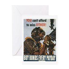 Buy Bonds Every Payday Greeting Card