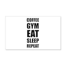 Coffee Gym Work Eat Sleep Repeat Wall Decal
