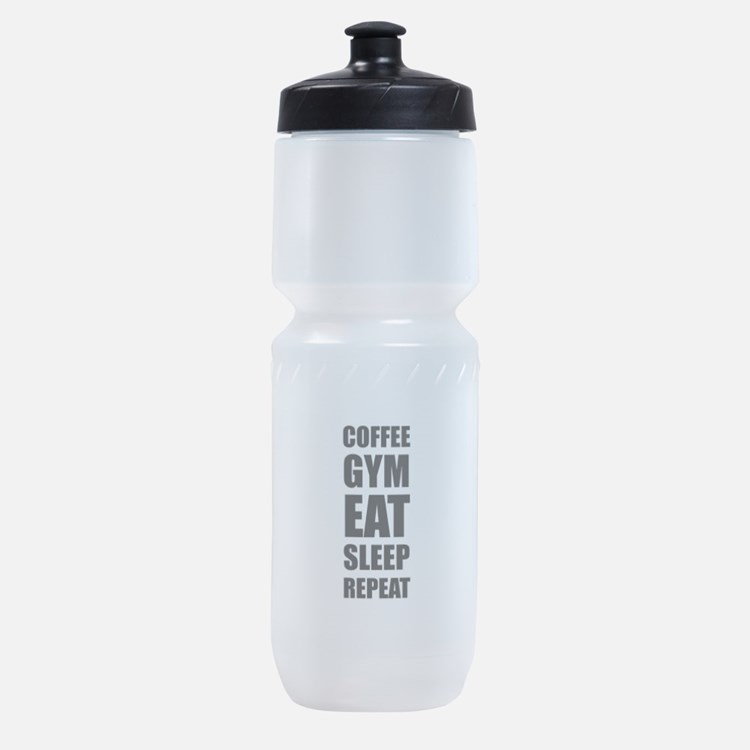 Coffee Gym Work Eat Sleep Repeat Sports Bottle