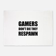 Gamers Respawn 5'x7'Area Rug