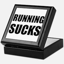 Running sucks Keepsake Box