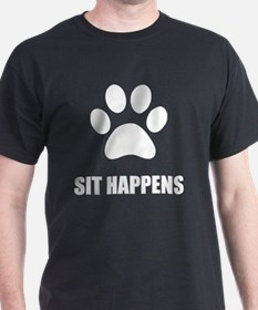 Sit happens Dog T-Shirt