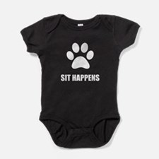 Sit happens Dog Baby Bodysuit