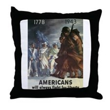 Americans Will Always Fight F Throw Pillow
