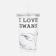 I Love Swans Acrylic Double-wall Tumbler