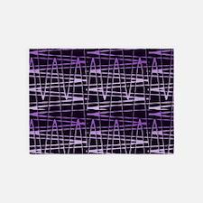 Purple Black Splatter Gem 5'x7'Area Rug