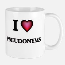 I Love Pseudonyms Mugs