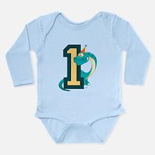 Dinosaur 1st Birthday Long Sleeve Infant Bodysuit