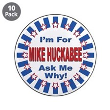 "Mike Huckabee for President 2008 3.5"" Button (10 p"