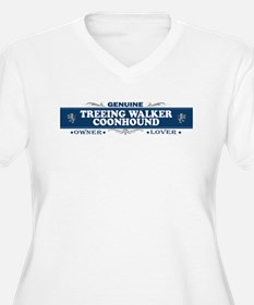 TREEING WALKER COONHOUND Womes Plus-Size V-Neck T-