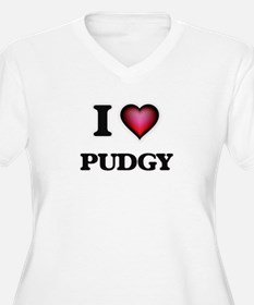 I Love Pudgy Plus Size T-Shirt
