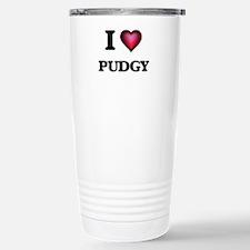 I Love Pudgy Travel Mug