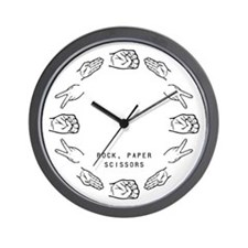 Rock Paper Scissors (RPS) Wall Clock