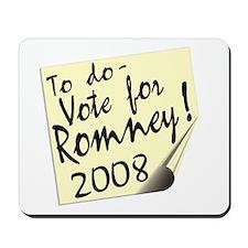 Vote Mitt Romney Reminder Mousepad